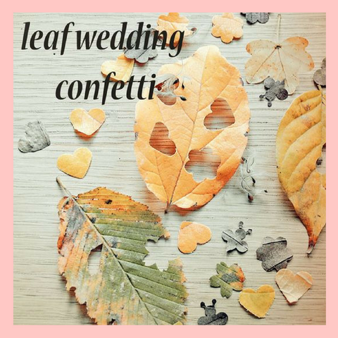 Autumn Leaf Confetti Wedding DIY