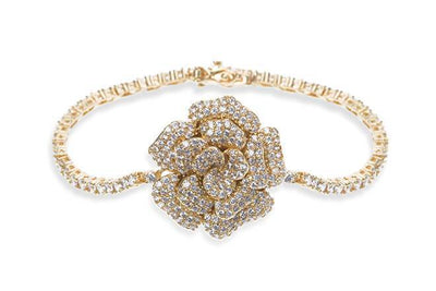 The Lovely Little Label Bracelet Blossom Bracelet - Gold