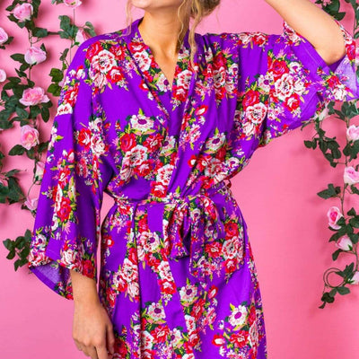 The Lovely Little Label Bridal Robe Purple Bridesmaid Robe