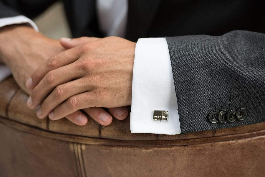 The Lovely Little Label Cufflinks Best Man Cufflinks