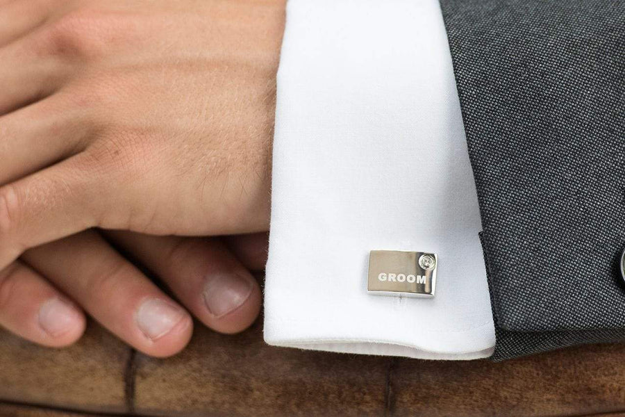 The Lovely Little Label Cufflinks Groom Cufflinks