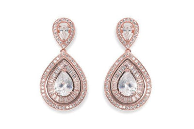 The Lovely Little Label Earrings Montgormery Earrings in Rose Gold