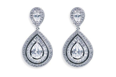 The Lovely Little Label Earrings Platinum Montgomery Earrings