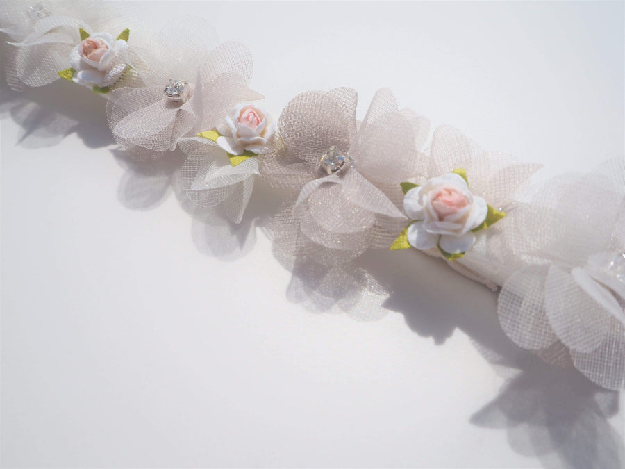 The Lovely Little Label Garter Peony Garter