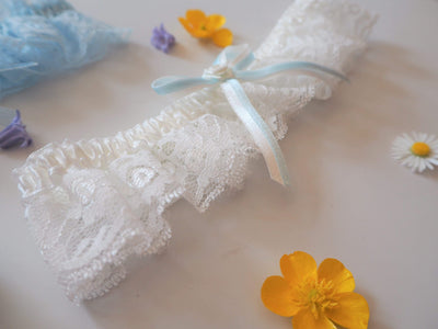 The Lovely Little Label Garter Snowdrop Garter
