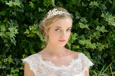The Lovely Little Label Hair Accessories Alberta Pearl Leaf Headband