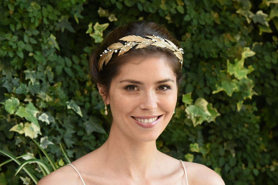 The Lovely Little Label Hair Accessories Grecian Bronze Gold Tiara