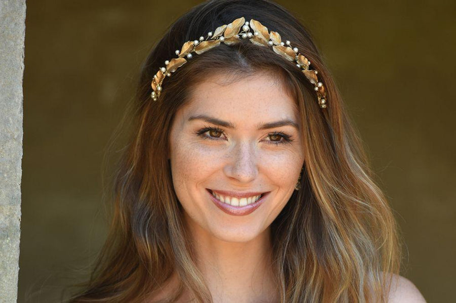 Laurel Bronze Gold Tiara
