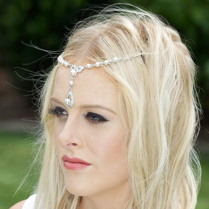 Silbhe Bridal Hair Piece - White Ivy