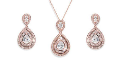 The Lovely Little Label Jewellery Montgormery Necklace & Earrings in Rose Gold