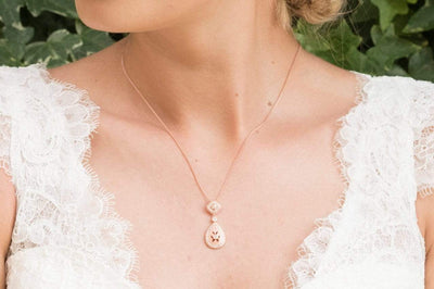 The Lovely Little Label Necklace Moonstruck Necklace in Rose Gold