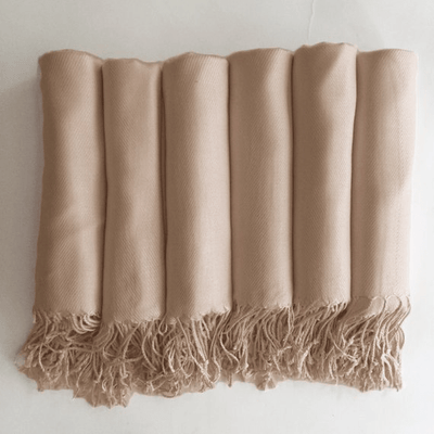 The Lovely Little Label pashmina shawl Champagne Wedding Pashmina Shawl - Cashmere feel