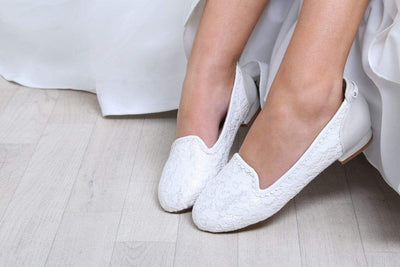The Lovely Little Label Shoes Alice Ivory Flat Wedding Shoes