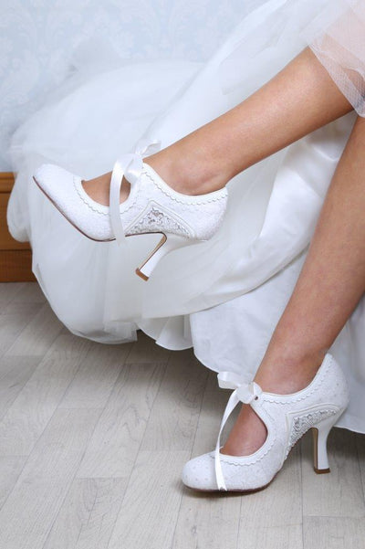 The Lovely Little Label Shoes Bianca Ivory Wedding Shoe Boot