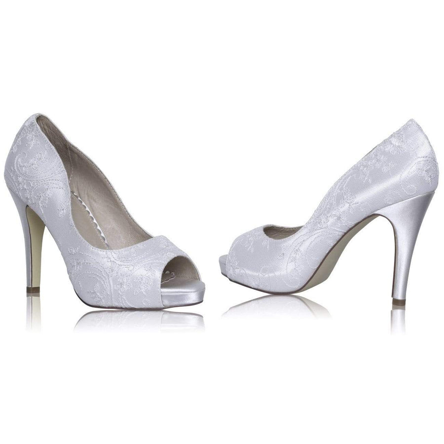 The Lovely Little Label Shoes EU 36 UK 3 / Ivory Ceila Lace Platform Shoe