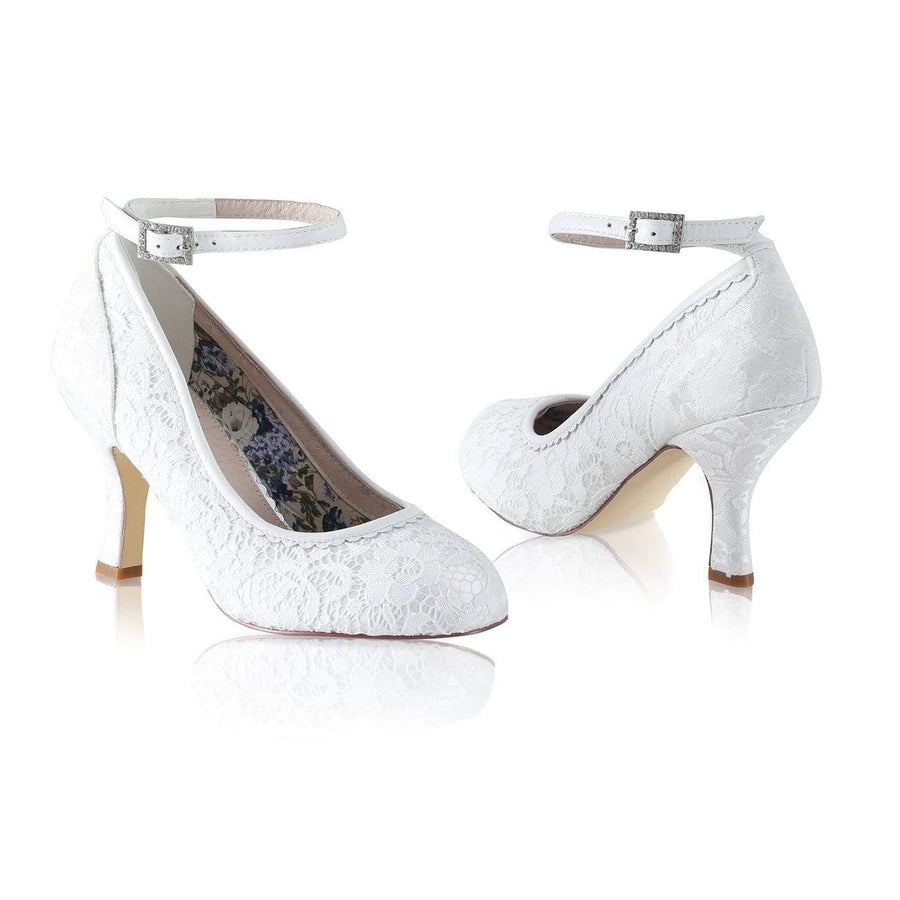 Dixie Ivory Brocade Wedding Shoes