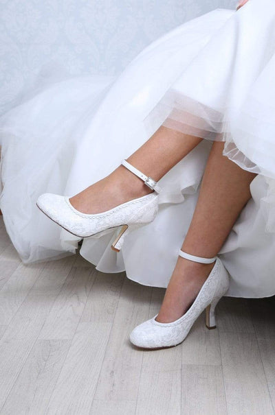 The Lovely Little Label Shoes Dixie Ivory Brocade Wedding Shoes