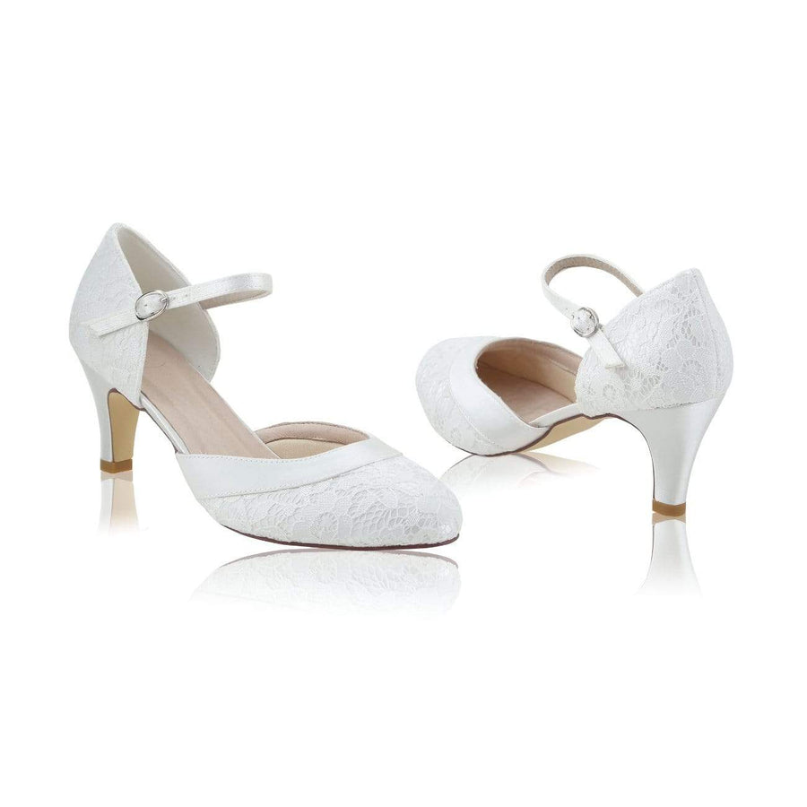 The Lovely Little Label Shoes EU 36 UK 3 Elsa Ivory Lace Bridal Shoes