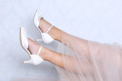 The Lovely Little Label Shoes Elsa Ivory Lace Bridal Shoes
