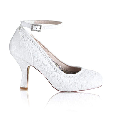 The Lovely Little Label Shoes EU 36 UK 3 Dixie Ivory Brocade Wedding Shoes
