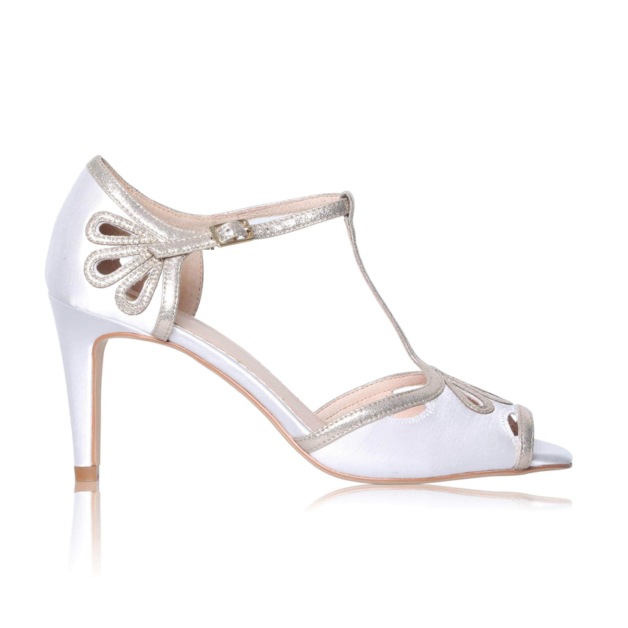 Esme Ivory and Gold Wedding Shoes