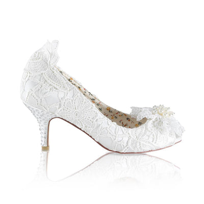 The Lovely Little Label Shoes EU 36 UK 3 Fran Ivory Low Heel Wedding Shoes