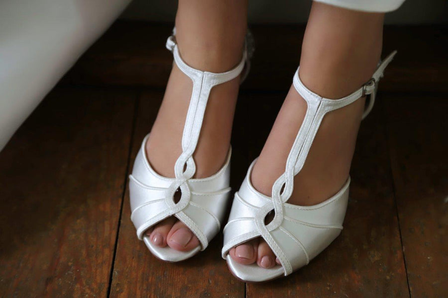 Georgie Peep Toe Bridal Shoe