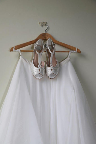 The Lovely Little Label Shoes Georgie Peep Toe Bridal Shoe