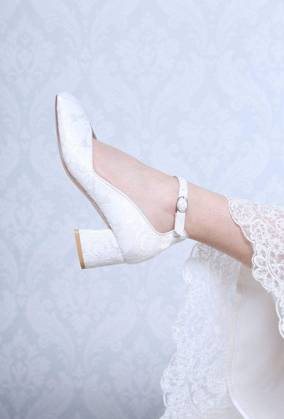 The Lovely Little Label Shoes Harriet Block Heel Wedding Shoes