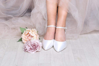 The Lovely Little Label Shoes Ingrid Vintage Style Shoe - Satin or Lace