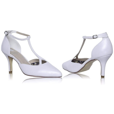 The Lovely Little Label Shoes Jamie T-Bar Bridal Shoe