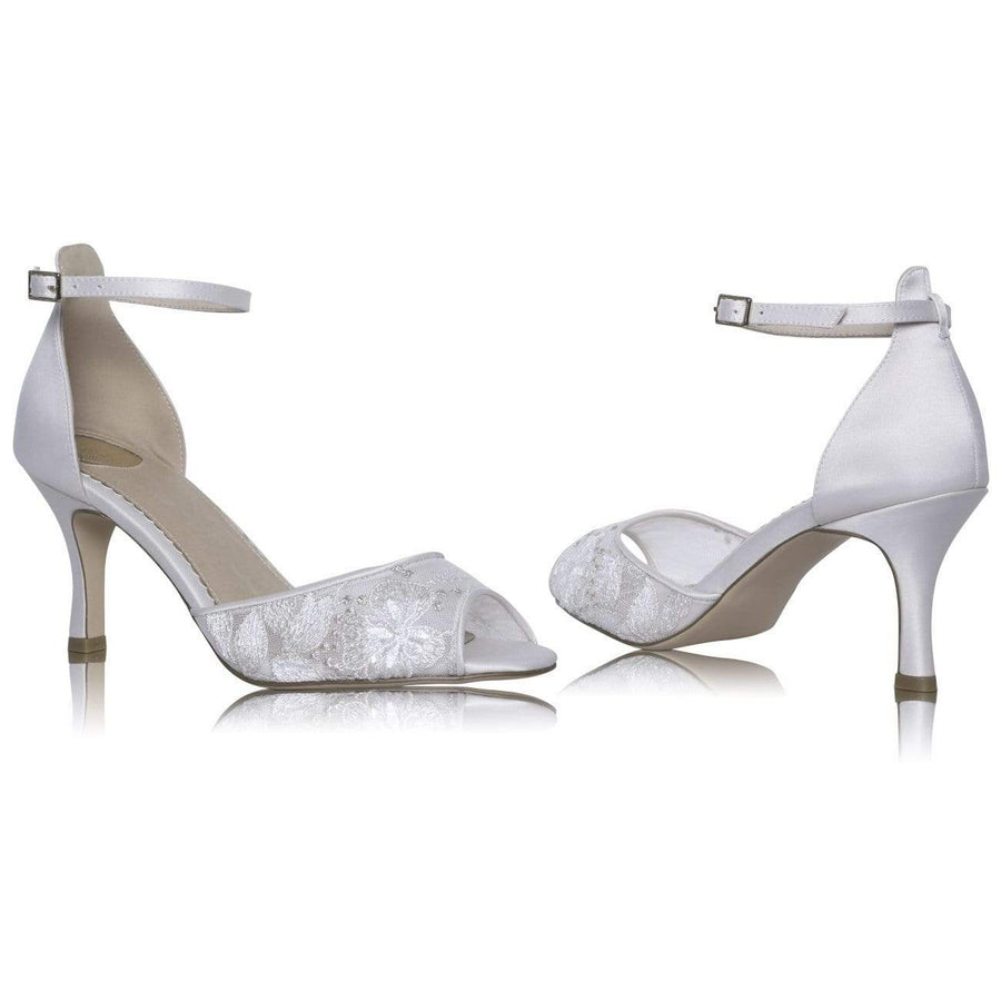 The Lovely Little Label Shoes EU 36 UK 3 Lexy Bridal Shoe - Floral Lace