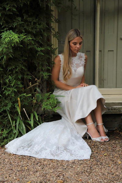 The Lovely Little Label Shoes Lexy Bridal Shoe - Floral Lace