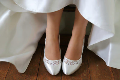 The Lovely Little Label Shoes Marlene Block Heel Wedding Shoes