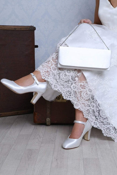 The Lovely Little Label Shoes Milly Block Heel Wedding Shoes