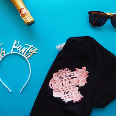 The Lovely Little Label T-Shirt Till Death Do Us Party - Bride/Bridesmaid Tee