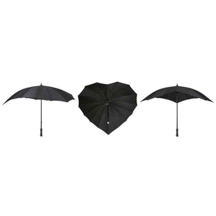 The Lovely Little Label Umbrella Black Heart Umbrella