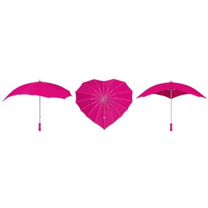 The Lovely Little Label Umbrella Hot Pink Heart Umbrella
