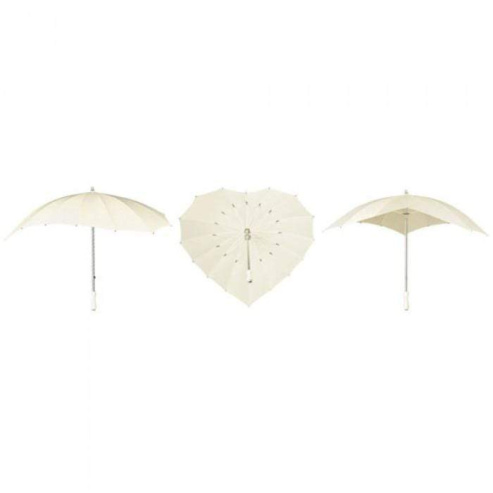 The Lovely Little Label Umbrella Ivory Heart Umbrella
