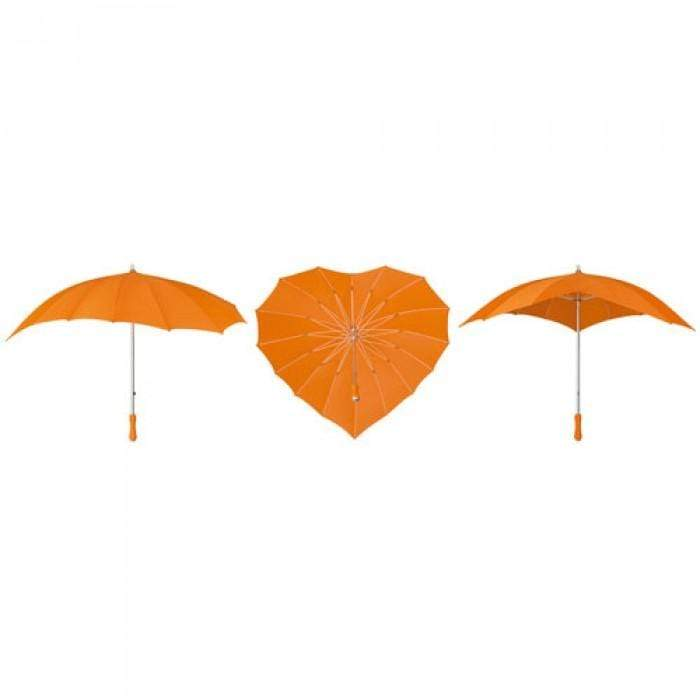 The Lovely Little Label Umbrella Orange Heart Umbrella