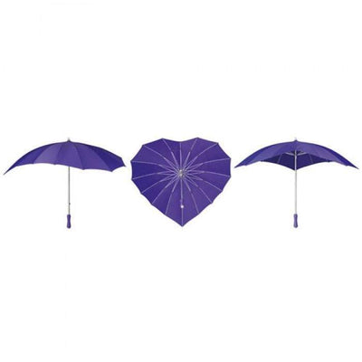 The Lovely Little Label Umbrella Purple Heart Umbrella