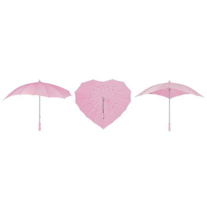 Soft Pink Heart Umbrella