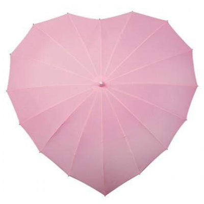 The Lovely Little Label Umbrella Soft Pink Heart Umbrella