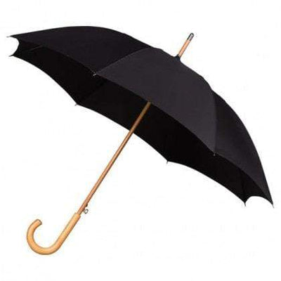 The Lovely Little Label Umbrella We're Singing in the Rain Black- 5 Black Wooden Handle Wedding Umbrellas