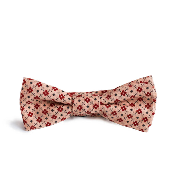 Pink Patterned Bow Tie