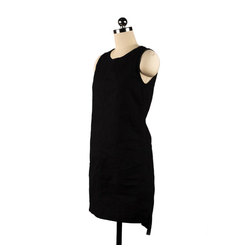 Hemp dress tunic handmade Colorado Springs Organic cotton black