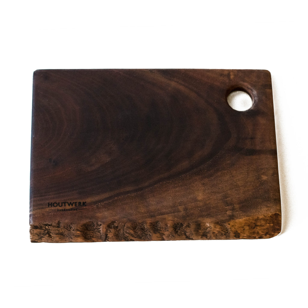 Walnut Serving Platter #15 with Natural Edge