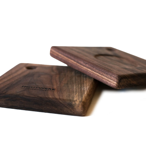 Walnut Coasters #1 - Rudder & Fern