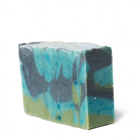 Chai organic olive oil soap handmade in main turquoise blue green anise clove vegan cruelty-free