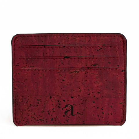 Reilly Card Case - Maroon - Rudder & Fern